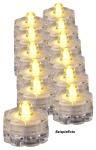 12 x LED-Teelichter wasserdicht Batteriebetrieb Tauchlicht Tischdeko Partydeko