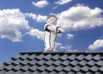 Schlafwandler Dach Dachläufer Hans Dachschmuck Firstschmuck Firstfigur NEU