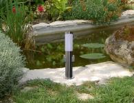 Edelstahl Standleuchte mit 2 x Steckdose Standlampe Außenlampe Außenleuchte