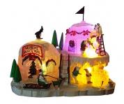 Beleuchtete Weihnachtslandschaft mit LED RGB-Farbwechsel Weihnachten Deko 20 cm