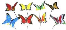 Niedliches 8er Set Gartenstecker Schmetterlinge, Gartendeko, Tierfiguren, Deko