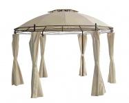 Rund-Pavillon mit Seitenteile Ø 350 cm Gartenpavillon Festzelt Gartenlaube creme
