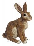 Dekofigur Horst Hase sitzend Feldhase Rammler Kaninchen Gartendeko 40 cm NEU