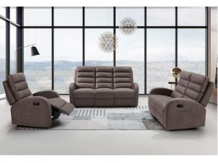 Relaxsessel Fernsehsessel GIORGIA - Stoff - Braun