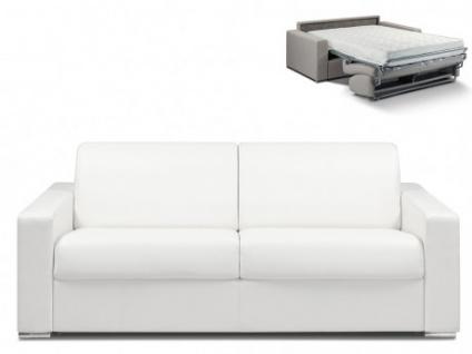 Schlafsofa 4-Sitzer CALITO - Weiß - Liegefläche: 160 cm - Matratzenhöhe: 18cm
