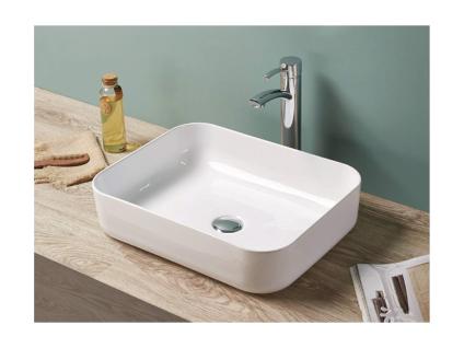 Waschbecken rechteckig JUNIKO - Weiß