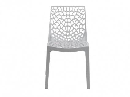 Stuhl 6er-Sets Diadem - Kunststoff - Weiß - Vorschau 3