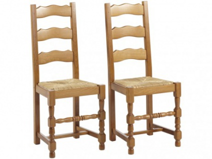 Stuhl 2er-Set Holz massiv Segu - Vorschau 1