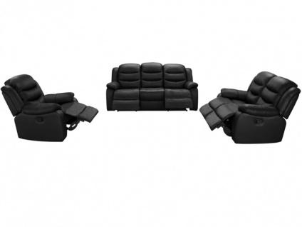 Relaxsofa Leder 2-Sitzer Pliton - Schwarz - Vorschau 4