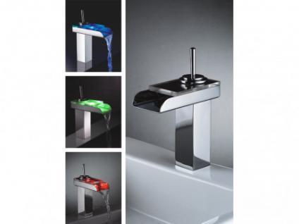 LED Wasserhahn Einhebelmischer Armatur Phiphi mit Farbwechsel