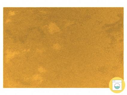 Teppich MILO - 100% Polyester - 120 x 170 cm - Senfgelb