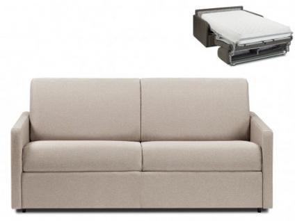 Schlafsofa 3-Sitzer Stoff CALIFE - Beige - Liegefläche: 140 cm - Matratzenhöhe: 22cm
