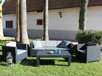Lounge Sitzgruppe SOPHIE II (4-tlg.) - 3-Sitzer+2 Sessel+Tisch