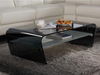 Couchtisch Glas Design KELLY - Schwarz-Weiß