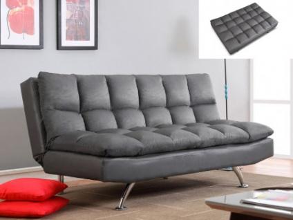 Klappsofa 3-Sitzer Microfaser Didier - Grau