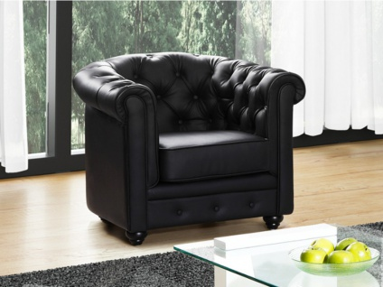 Sessel CHESTERFIELD - Schwarz