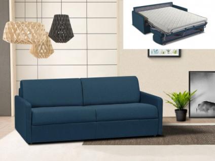 Schlafsofa 4-Sitzer Stoff CALIFE - Marineblau - Liegefläche: 160 cm - Matratzenhöhe: 14cm