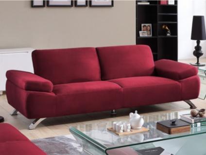 3-Sitzer-Sofa Microfaser Polka - Rot