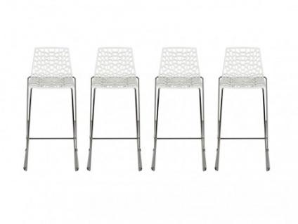 Barhocker 4er-Set Wilton - Polypropylen - Weiß - Vorschau 1