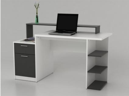 schreibtisch wei grau online bestellen bei yatego. Black Bedroom Furniture Sets. Home Design Ideas