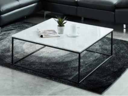 Couchtisch Design Marmor Metall Aretha Schwarz Weiss