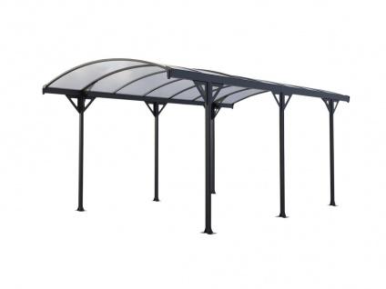 Carport selbsttragend GENARO - Aluminium - Grau - 15, 3 m²
