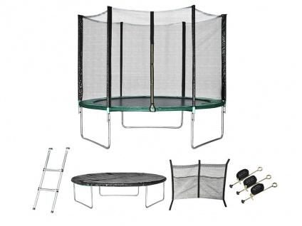 Trampolin mit Netz, Leiter und Verankerungssatz KANGA - D. 305 cm