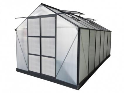 Garten Gewächshaus Aluminium Kalida - 13 m² - Anthrazit - Vorschau 2