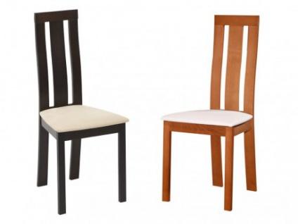 Stuhl 6er-Set Holz massiv Domingo - Eichefarben