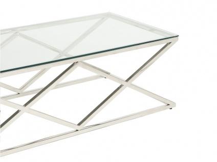 Couchtisch CHARLOTTE - Glas & Stahl - Chromfarben - Vorschau 4