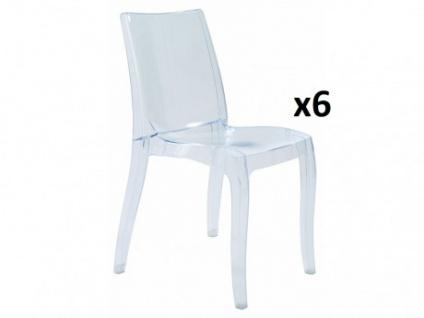 Stuhl 6er-Set Polycarbonat LUCINDA - Stapelbar