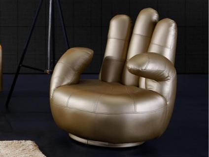 Fingersessel Catchy - Drehbar - Gold
