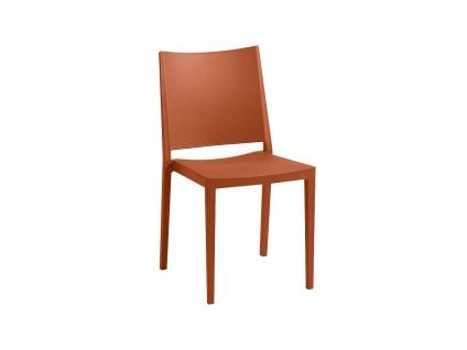 Stuhl stapelbar 2er-Set TOXA - Polypropylen - Orange