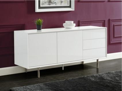 Sideboard CARLUTA - 2 Türen & 3 Schubladen - Weiß