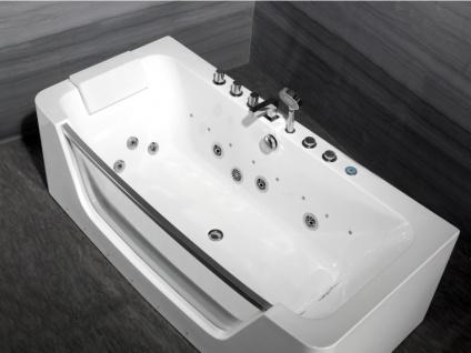 LED-Whirlpool Badewanne DYONA - 1 Person - 206 L - Weiß - Vorschau 5