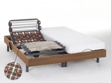 Relax-Kombination Latten und Tellermodule - Latex PANDORA II von DREAMEA - OKIN-Motoren - Taupe - 2x80x200 cm