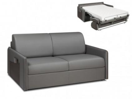 Schlafsofa Express Bettfunktion mit Matratze 3-Sitzer ALADDIN - Grau