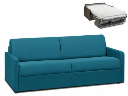 Schlafsofa 4-Sitzer Stoff CALIFE - Türkis - Liegefläche: 160 cm - Matratzenhöhe: 22cm