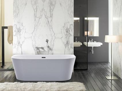 Freistehende Badewanne DIVINA - 255L - 180x75x58 cm - Weiß