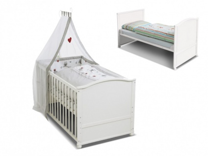 Babybett Kinderbett Fanny - Weiß - Vorschau 2