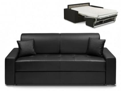 Schlafsofa 4-Sitzer EMIR - Schwarz - Liegefläche: 160cm - Matratzenhöhe: 22cm