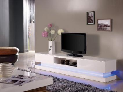 TV-Möbel Hochglanz LED Firmament - Weiß