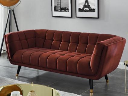 3-Sitzer-Sofa Samt SAMANTHA - Terracotta