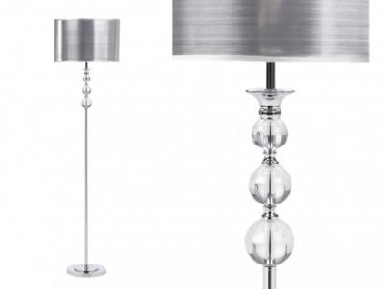 Stehlampe Stehleuchte Metall Kristall Nolita - Höhe: 159 cm