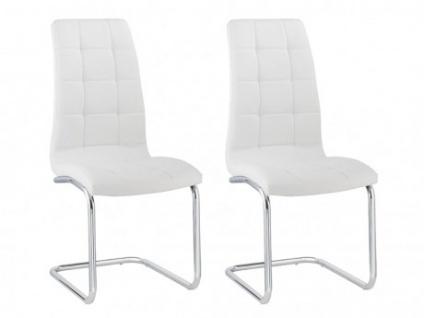 Stuhl 2er-Set NADYA - Weiß
