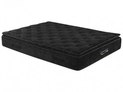 Taschenfederkernmatratze mit Übermatratze Black Dream - 180x200cm - Härtegrad 3