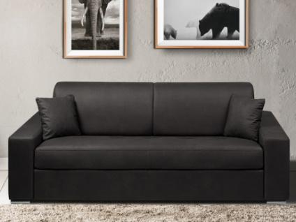 Schlafsofa 4-Sitzer Stoff EMIR - Anthrazit - Liegefläche: 160cm - Matratzenhöhe: 14cm