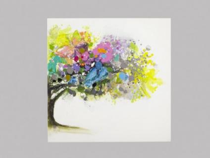 Kunstdruck Öl auf Leinwand Aulne II 100x100 cm