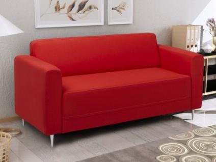 2-Sitzer Sofa Stoff Florat II - Rot