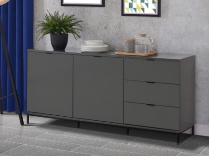 hochglanz grau sideboard g nstig kaufen bei yatego. Black Bedroom Furniture Sets. Home Design Ideas